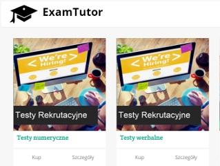 ExamTutor - nowa platforma oferuj�ca kursy online - kursy szkkolenia doradctwo nauka wiedza egzamin